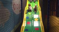 Sliding at Little Rascals Soft Play, Buxton by Gables Holiday 2019